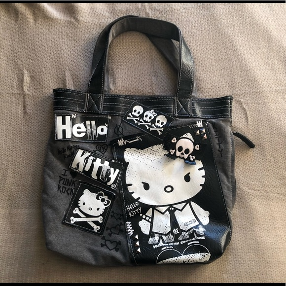 efa795a17 Loungefly Bags | Hello Kitty Sanrio Punk Rock Tote Bag | Poshmark